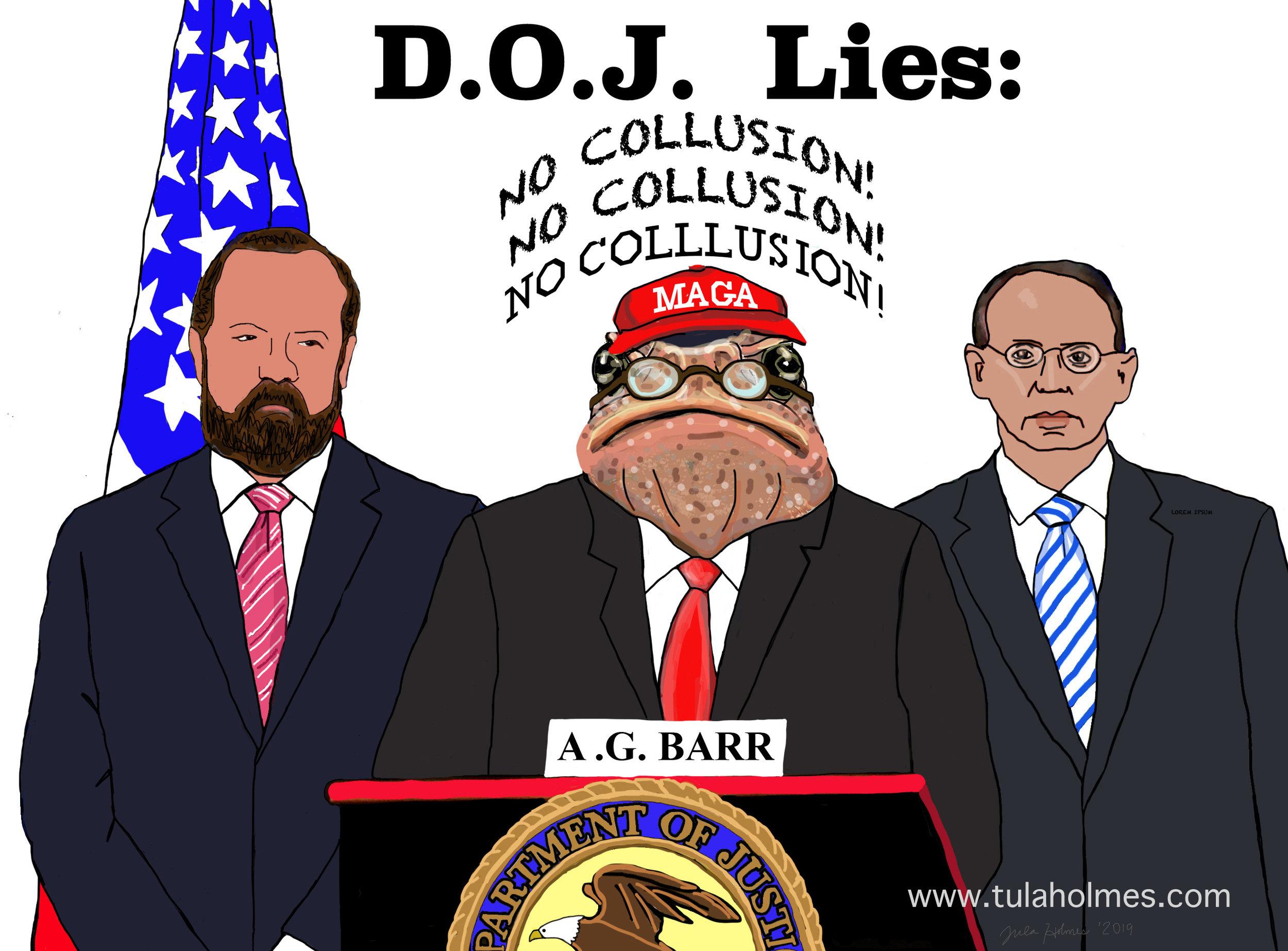 D.O.J. Lies- Copyright 2019