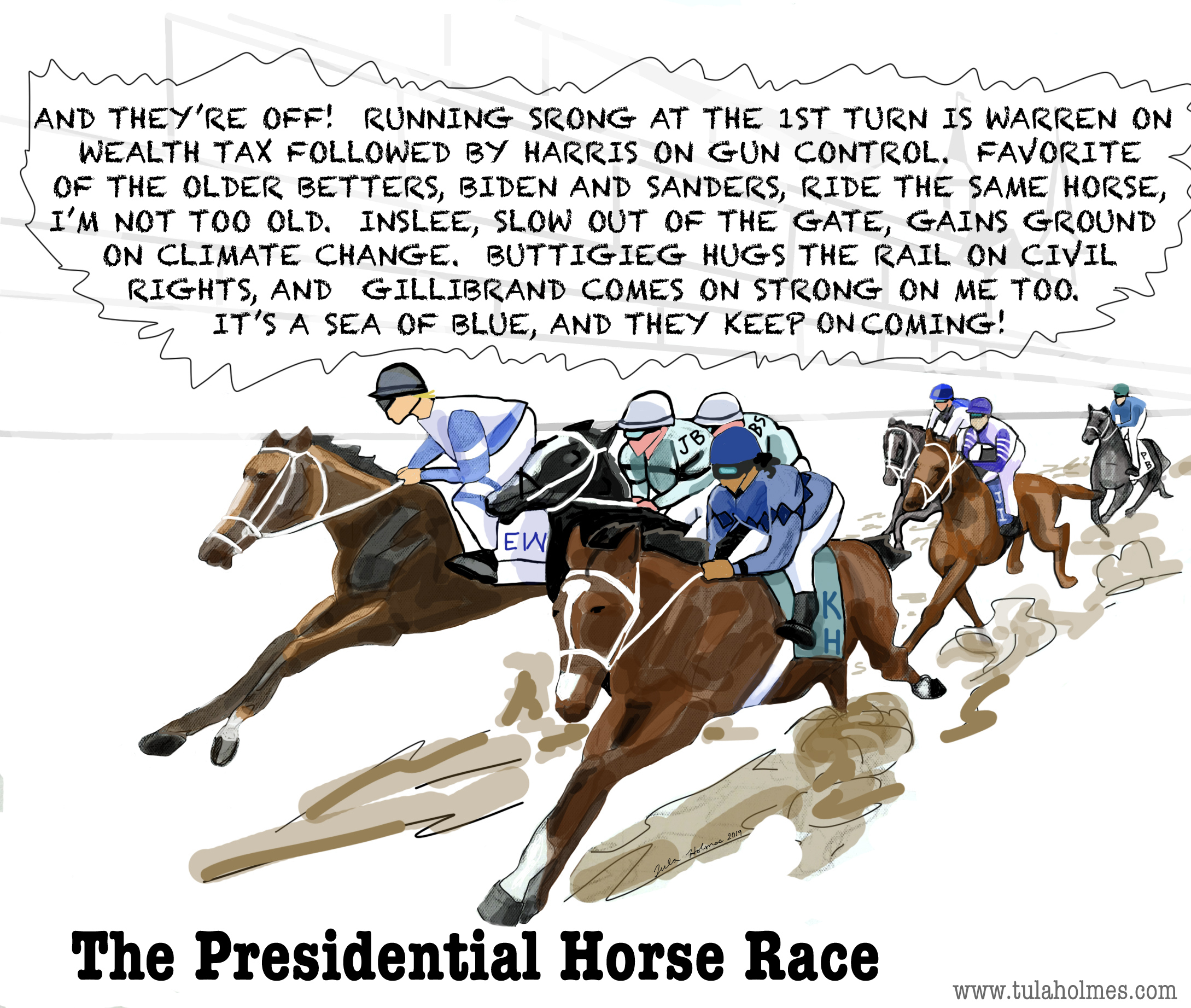 The Presidential Horse Race- Copyright 2019