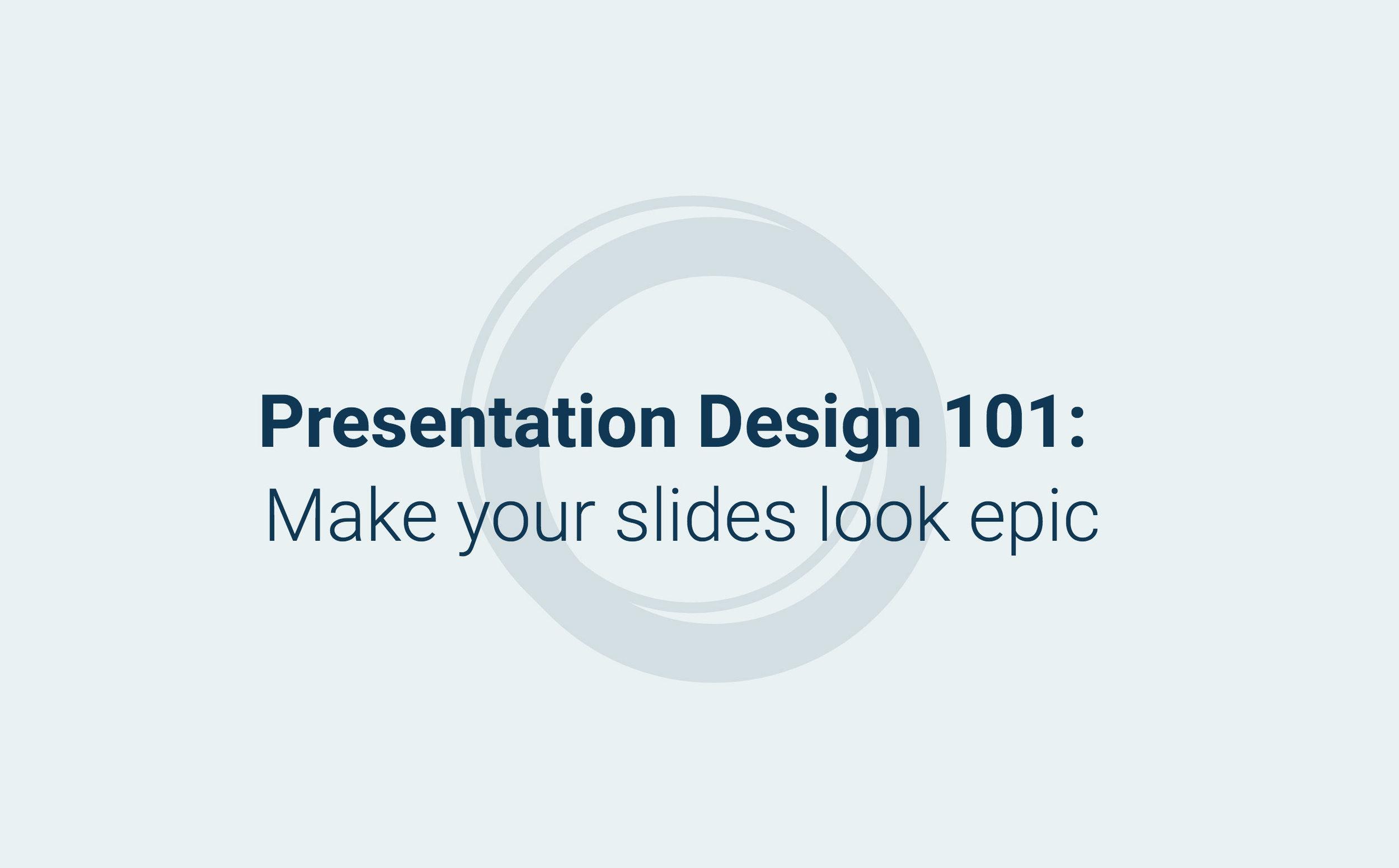 Diseño de presentaciones 101