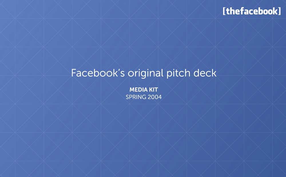 Pitch Deck de Facebook