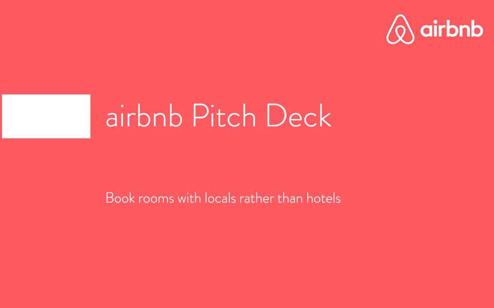 Pitch Deck de Airbnb