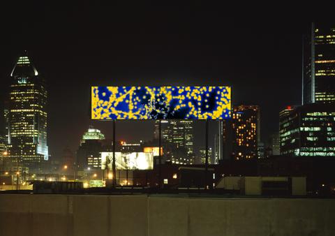 Installation of Blue Flyer II, 2009.