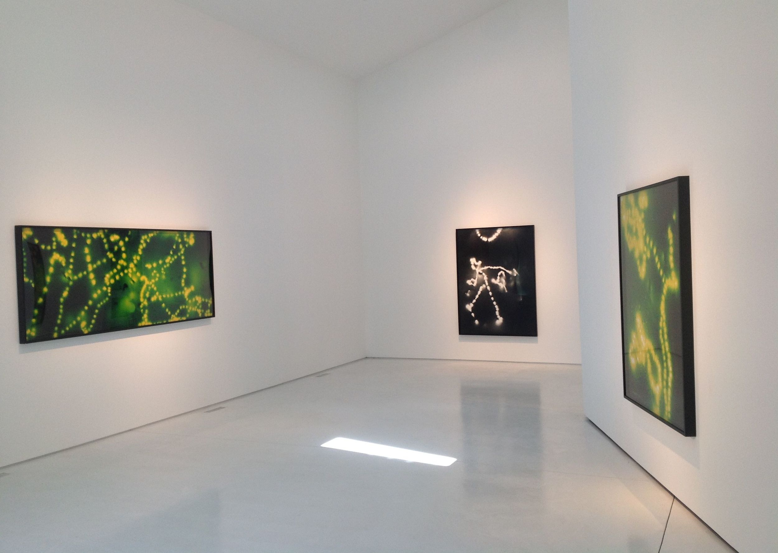 Installation of works from Higher Ground, 2015.
