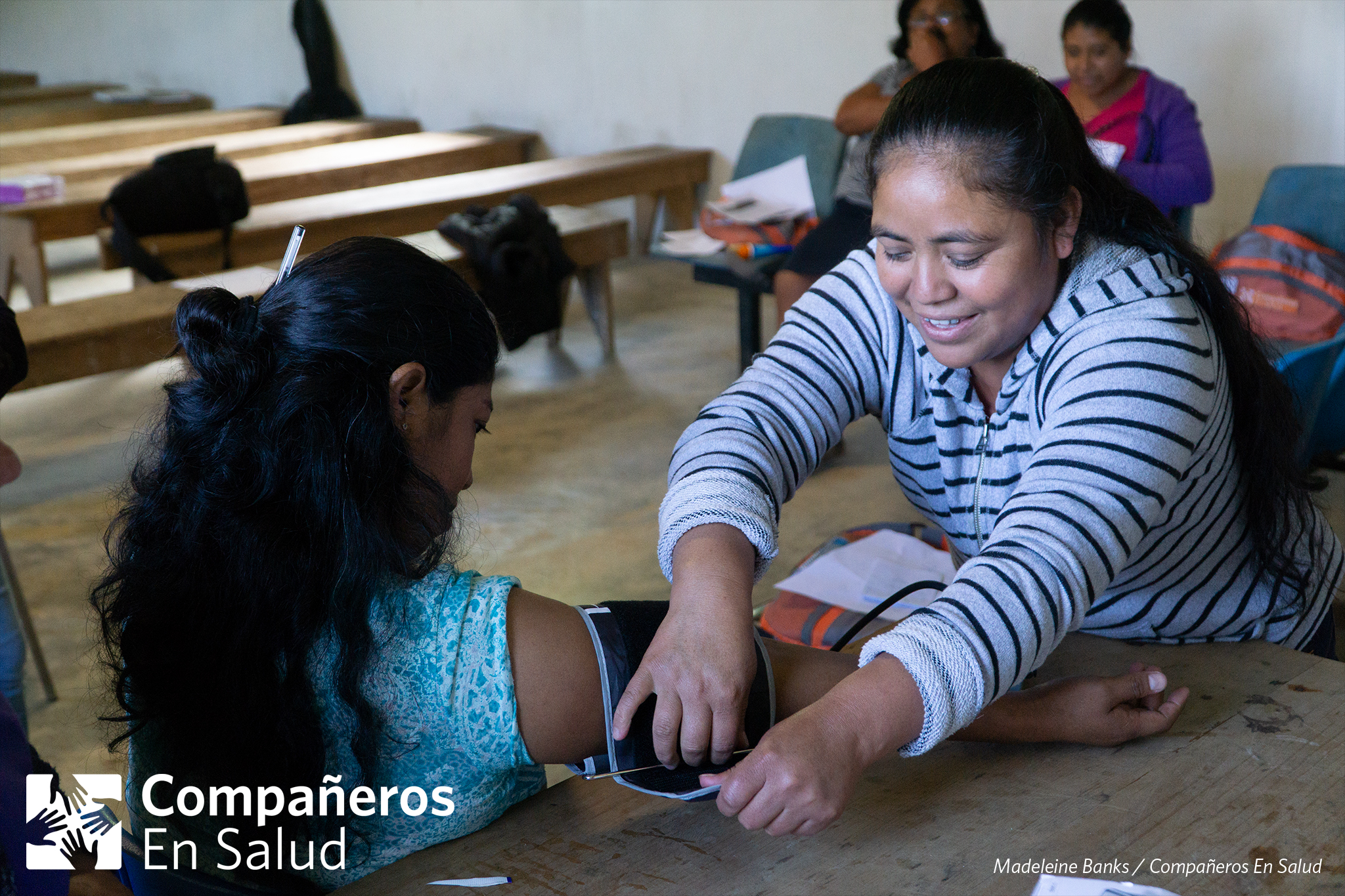 We are proud to present the following study regarding the effectiveness of our team of nearly 100  Acompañantes  (community health workers). These women serve as a vital link between patients and the information, resources and care that they need. We couldn't feel more proud of this team and all that they do for our patients.   Photo:  Acompañantes  (community health workers) Yadira Roblero (left) and Amada Floriberta Vázquez Cruz (right) practice taking blood pressure during a monthly training in the community of Laguna del Cofre.    Read the study here