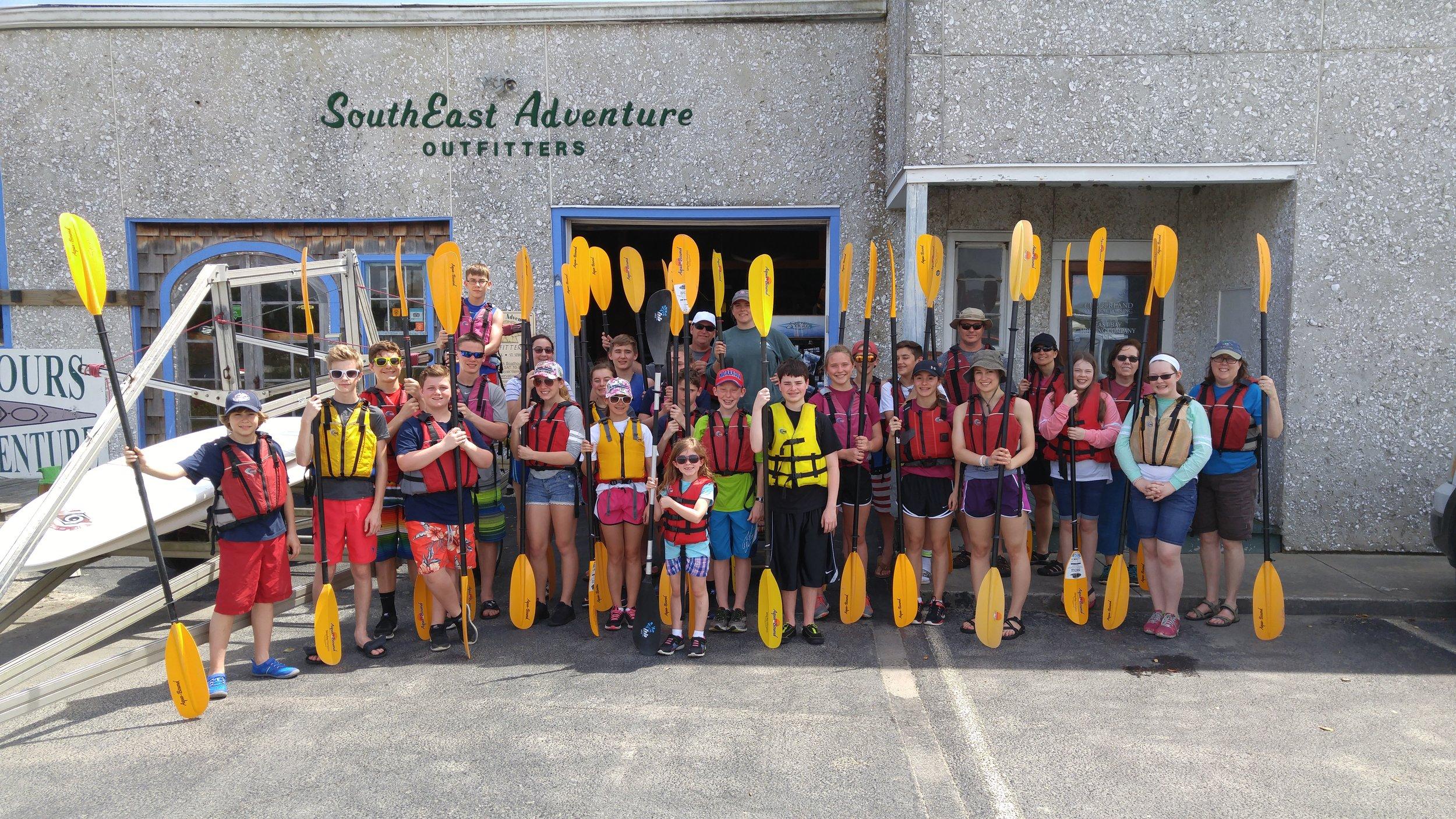 Kayak trip on the inter-coastal waterways near St. Simon's Island.