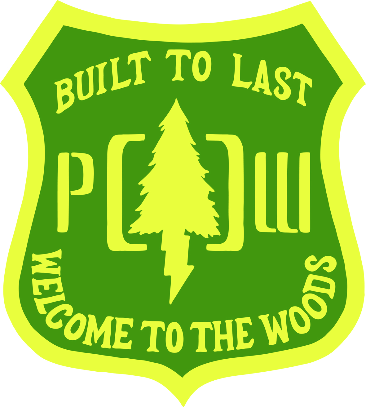Pow Gloves Welcome To The Woods Logo
