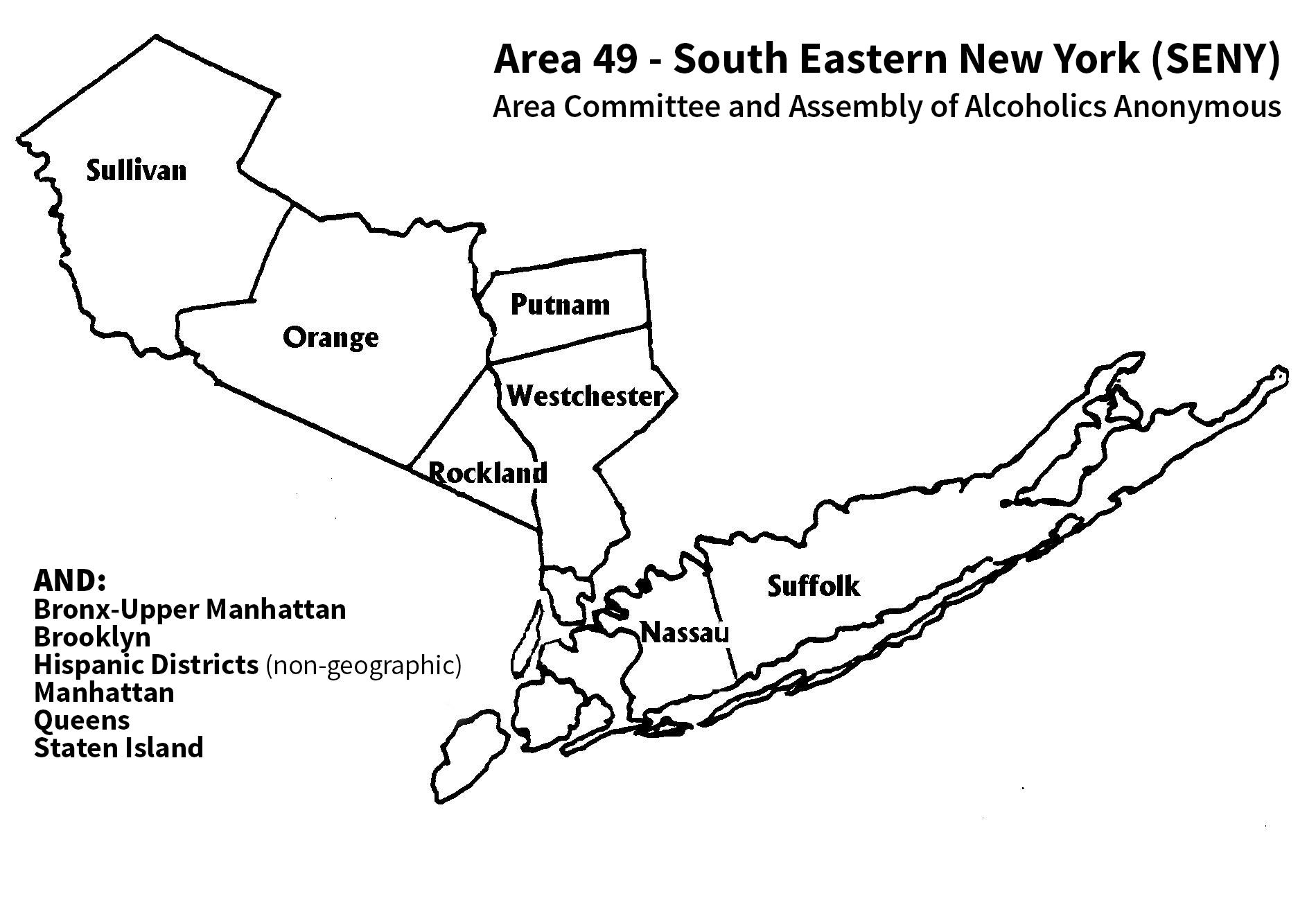 AA SENY Map