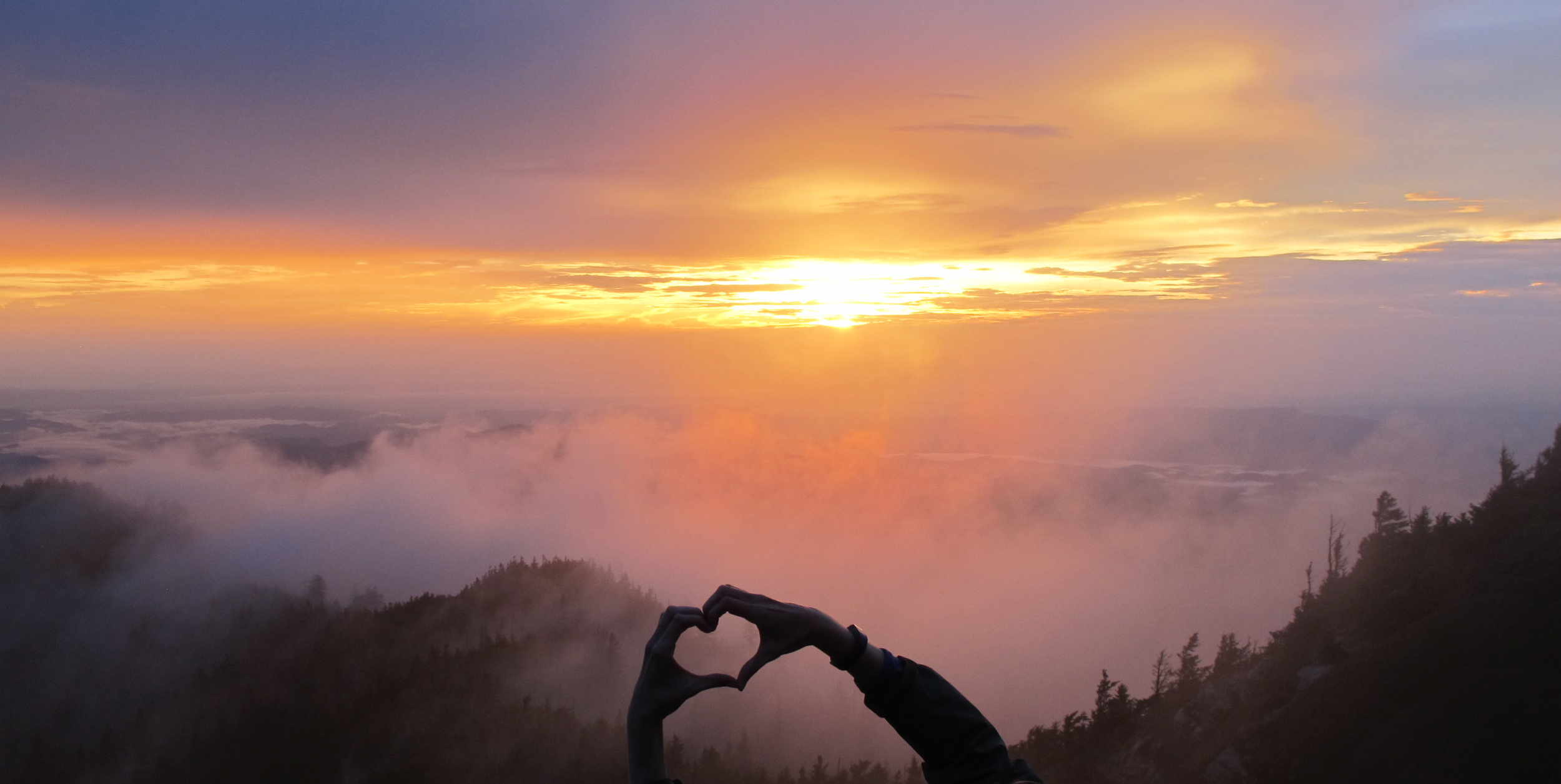 Sunset in the Smokies; Mt. LeConte