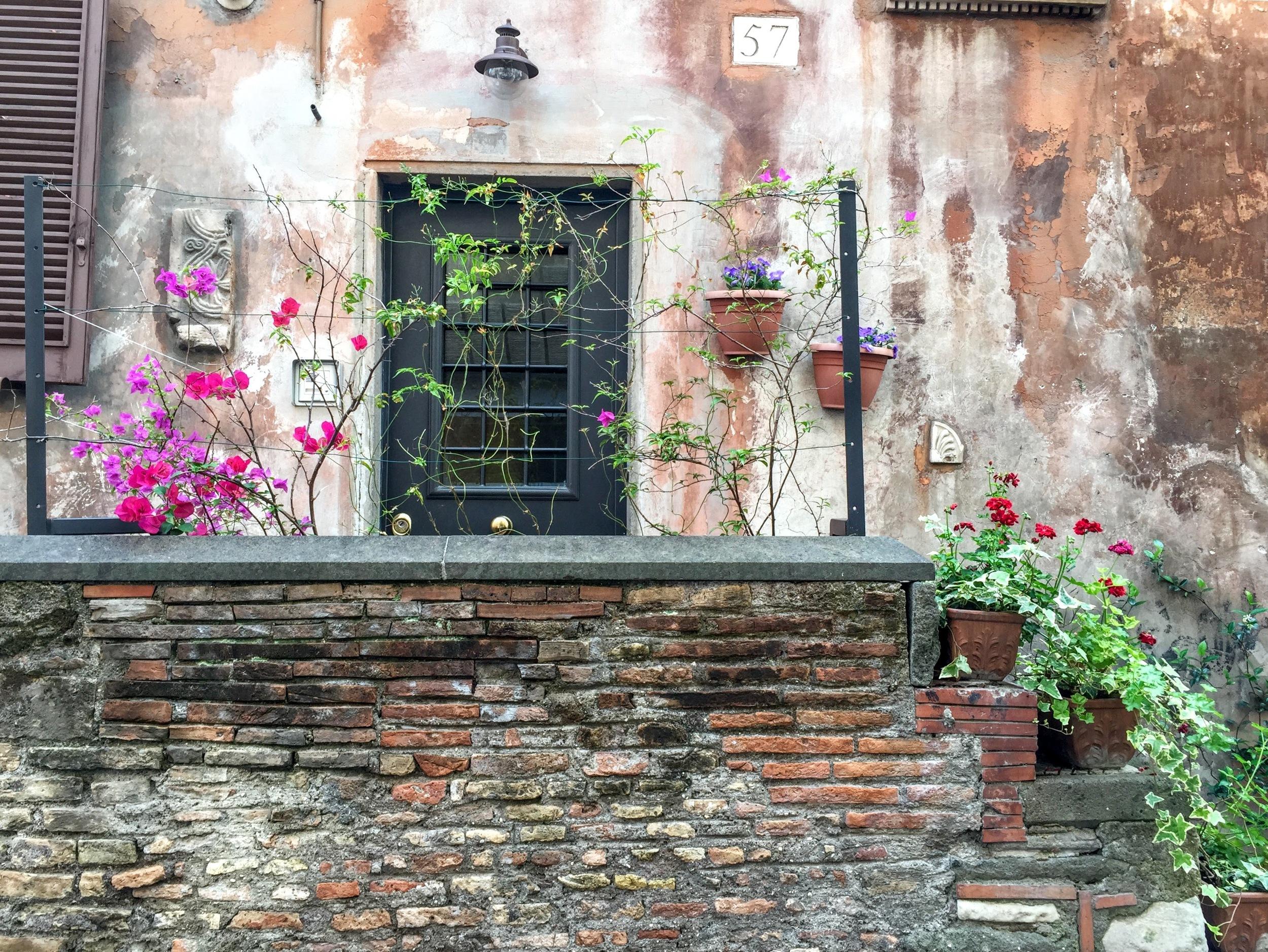 Trastevere Door, Rome Italy