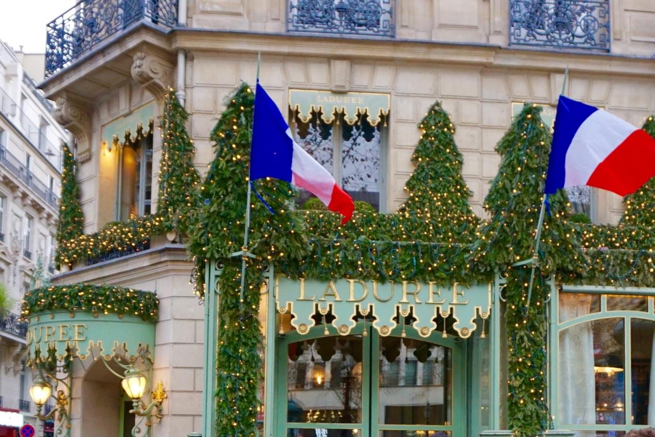 New Years Day Brunch, Laduree, Champs Elysees, Paris, France