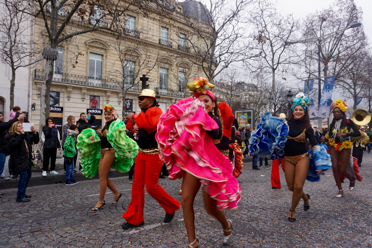 New Years Day, Champs Elysees, Paris, France