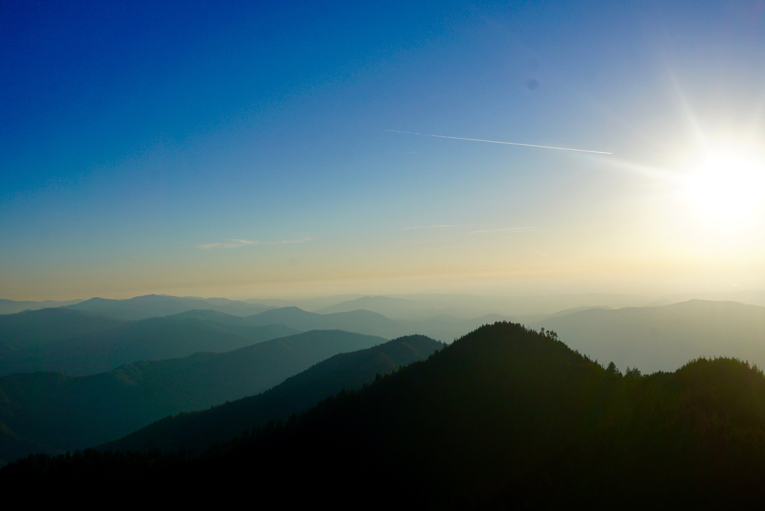 Sunset, Clifftops, Mt. LeConte