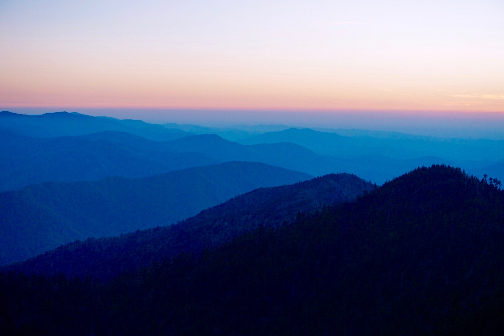 Sunset at Cliff Tops, Mt. LeConte, Great Smoky Mountains