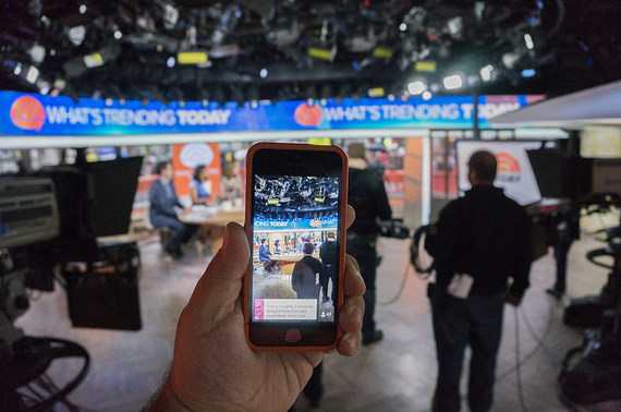 streaming social media newscast