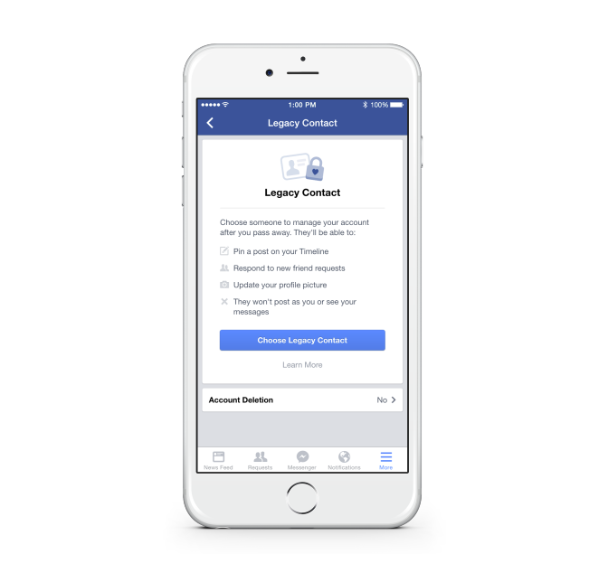 """Screenshot from Facebook's blog post on """"Adding a Legacy Contact.""""Click image to visit page."""