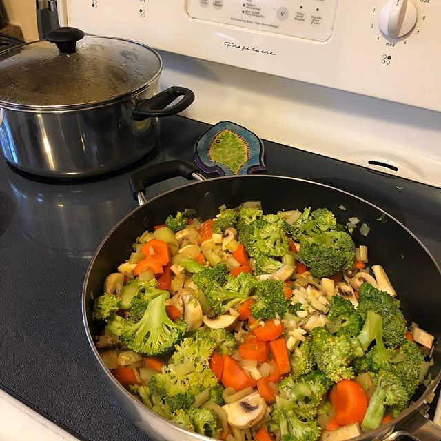 Veggies for our soup. Looks yummy!