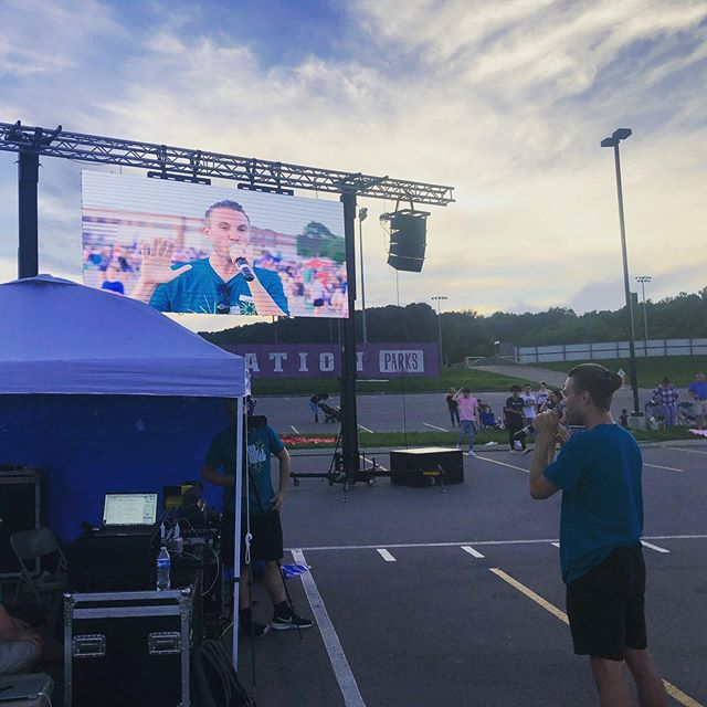 Shoutout to @frankmbyers for absolutely crushing the AV setup for Food Trucks and Fireworks. Thank you for your hard work and dedication to impact thousands for His glory. I'm grateful for your friendship and I appreciate your passion to creatively share the gospel. You the man!! #thebridgeftfw @bridgechurchtn