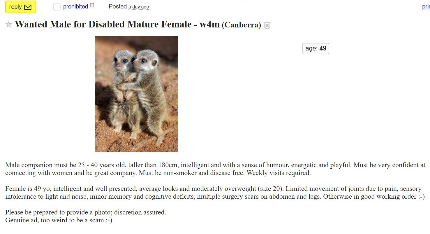 CL - Wanted male for disabled mature female 30 3 18.JPG
