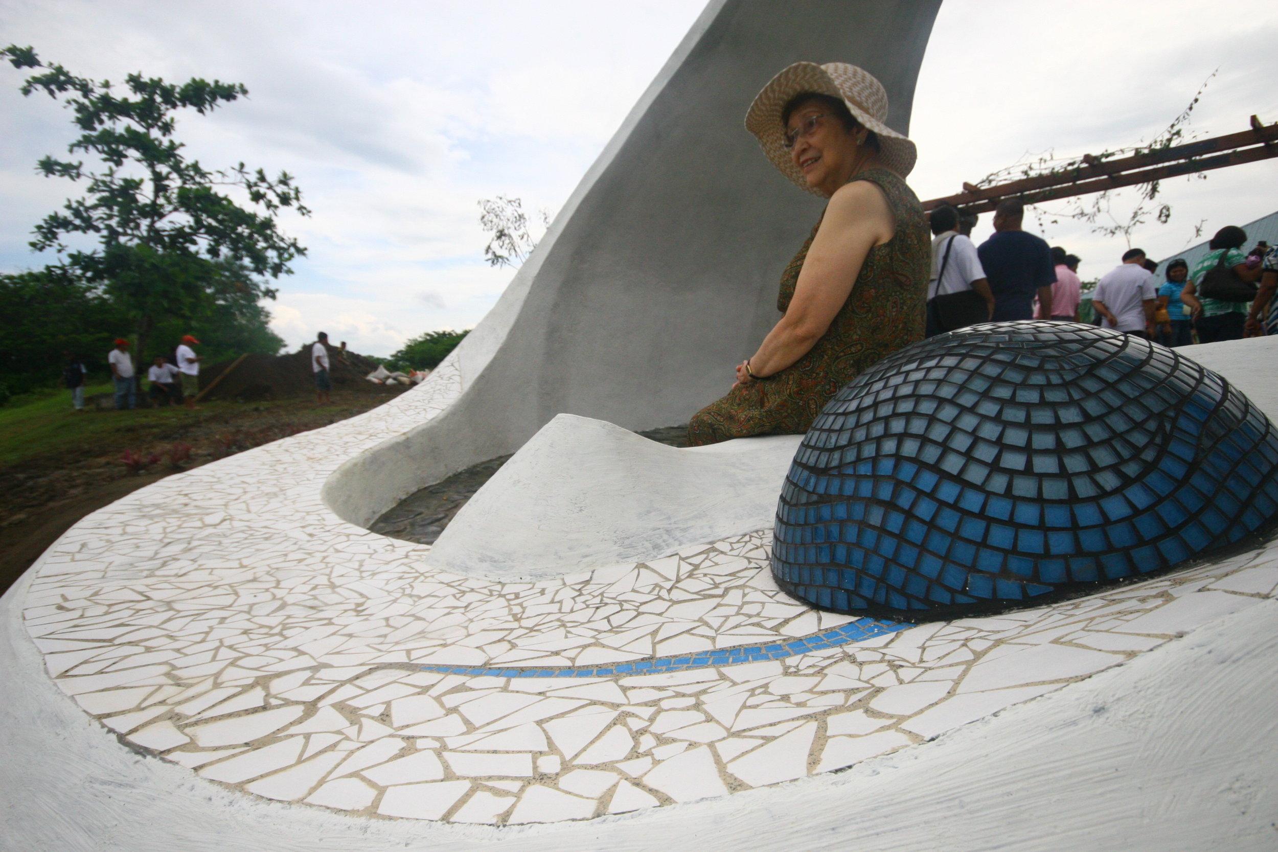 Estela with pearl.JPG
