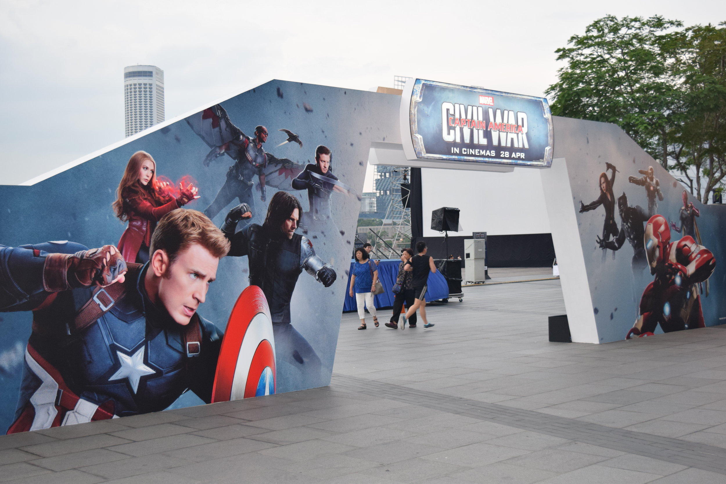 Movie Premiere & Festival - Captain America Festival  Venue: Marina Bay Sands Event Plaza