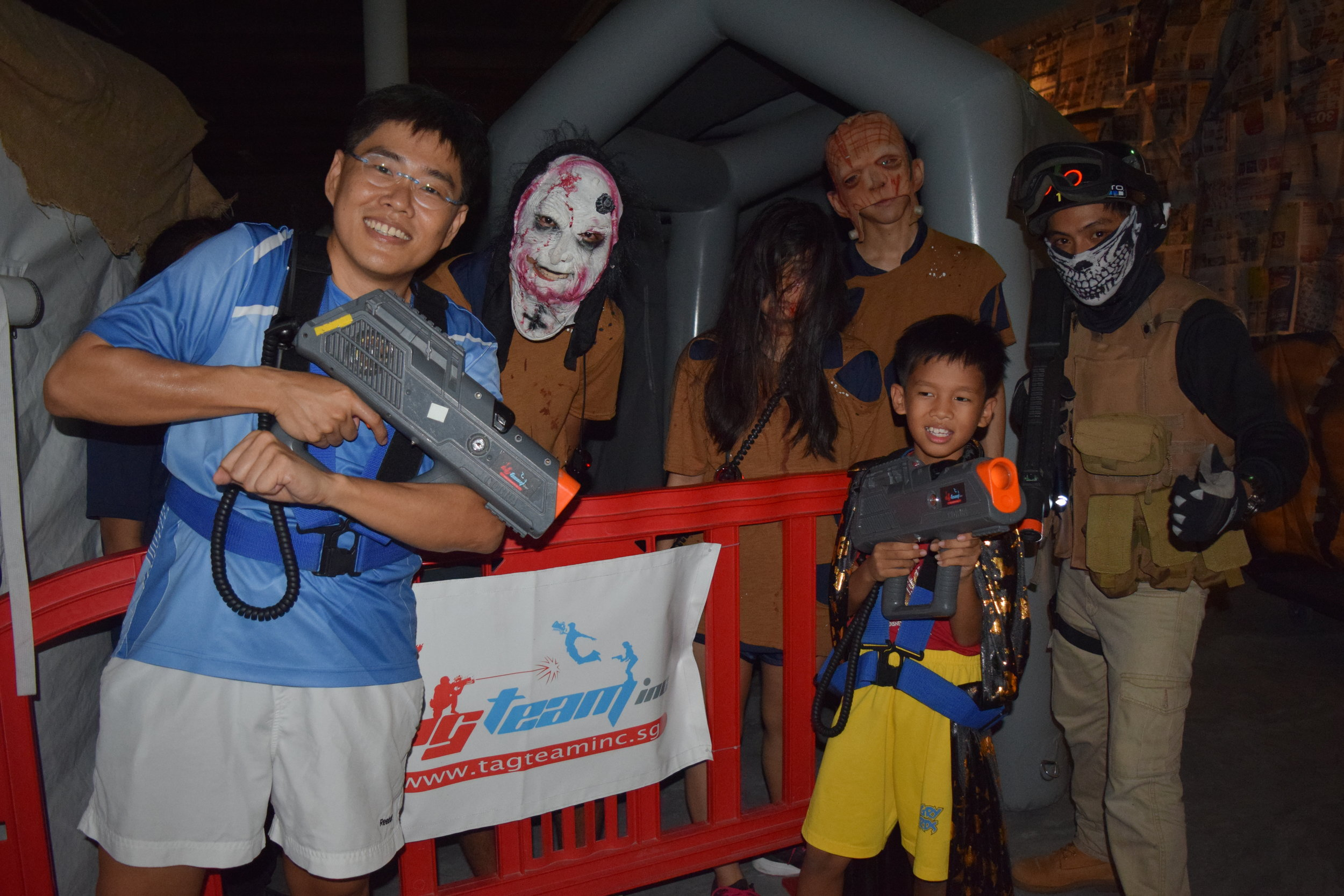 Halloween Laser Tag  Venue: TAG TEAM @East Coast Park