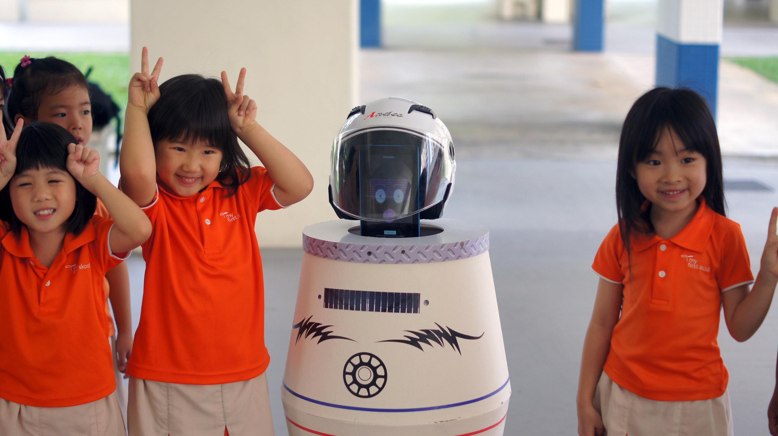 ROBOTag with cute kids.JPG