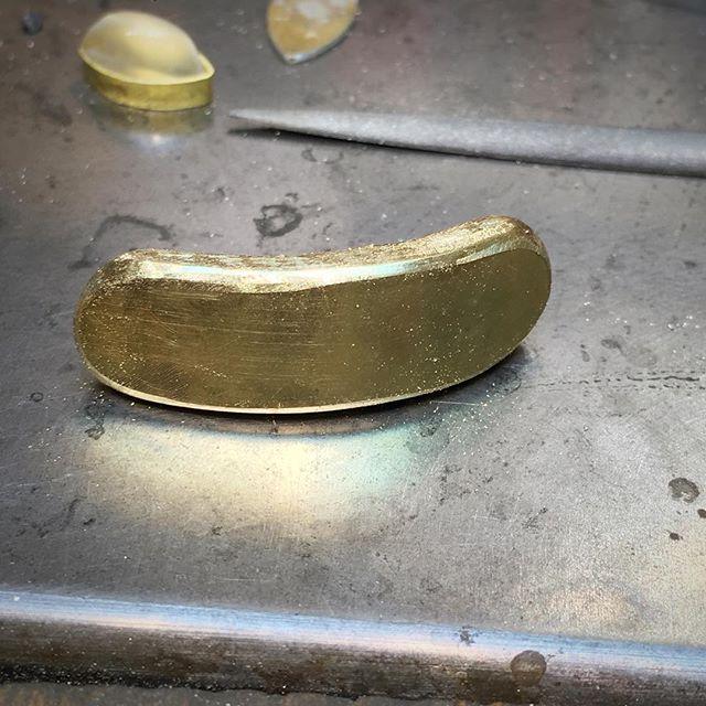 Late night #ingot rolling.  #18k #handfabricated #goldsmithing #recycle #lovegold #jewelry #riojeweler #lagunabeachjewelry
