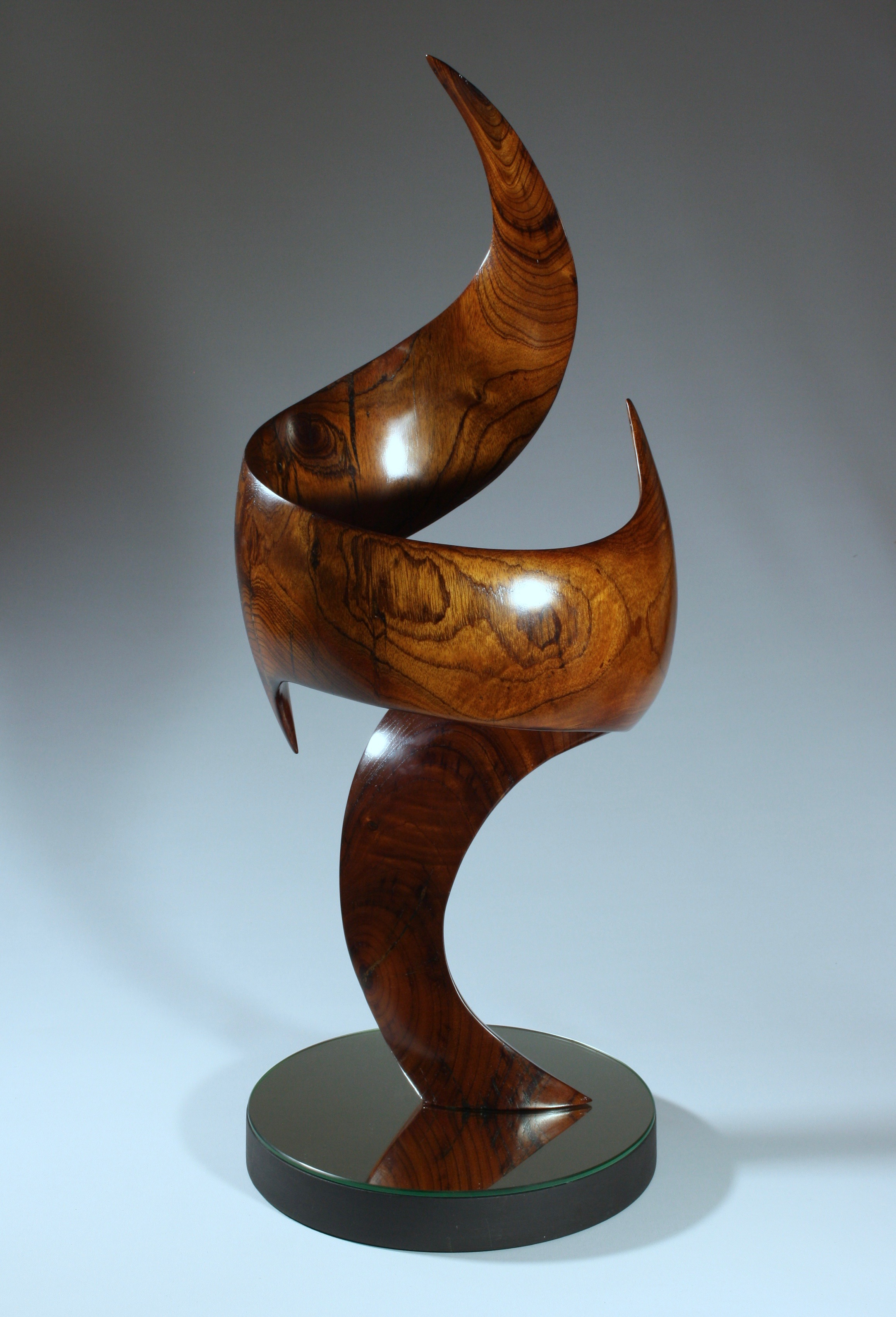 'Tango in the Sky' - Sold    Wood:  Australian Red Cedar   Dimensions:  73x30x30cm   Artist Statement:  Watching birds fly with such grace and manoeuvrability, combined with their ritualistic courtship dance, was the inspiration for my 'Tango in the Sky'.  2017 Second Prize - Queensland Royal National Show  #psart #woodsculpture