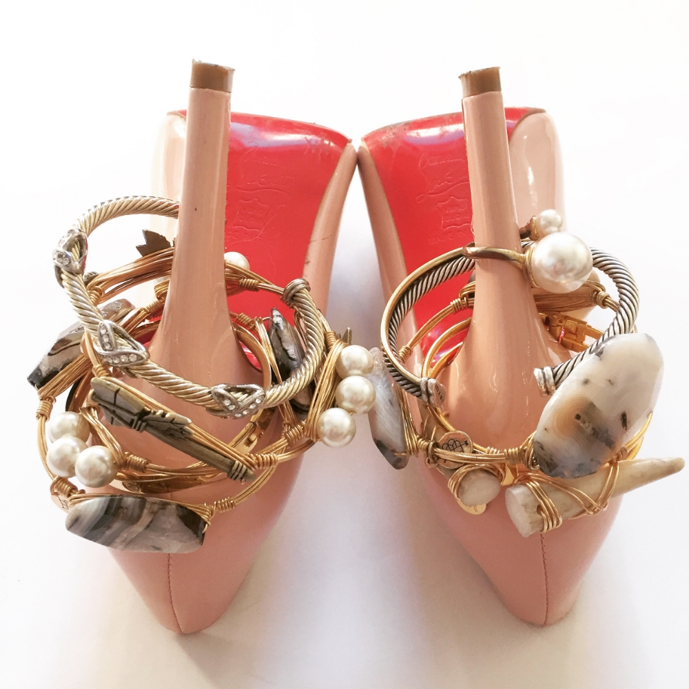 Fashion PORN! Louboutin's and Bangles! swoon....