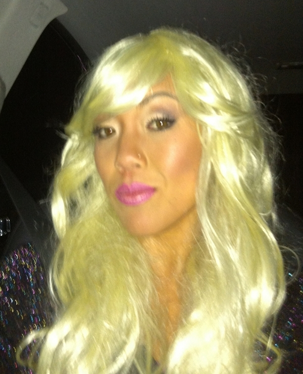 As ridiculous as this wig may look, deep inside I kinda liked it...