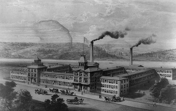 An early image of the Waltham Watch Company Factory
