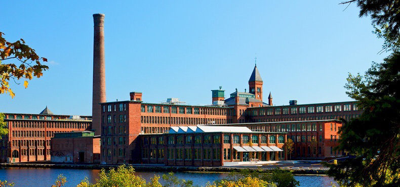 The Waltham Watch Factory Today, FROM ACROSS the CHARLES RIVER.