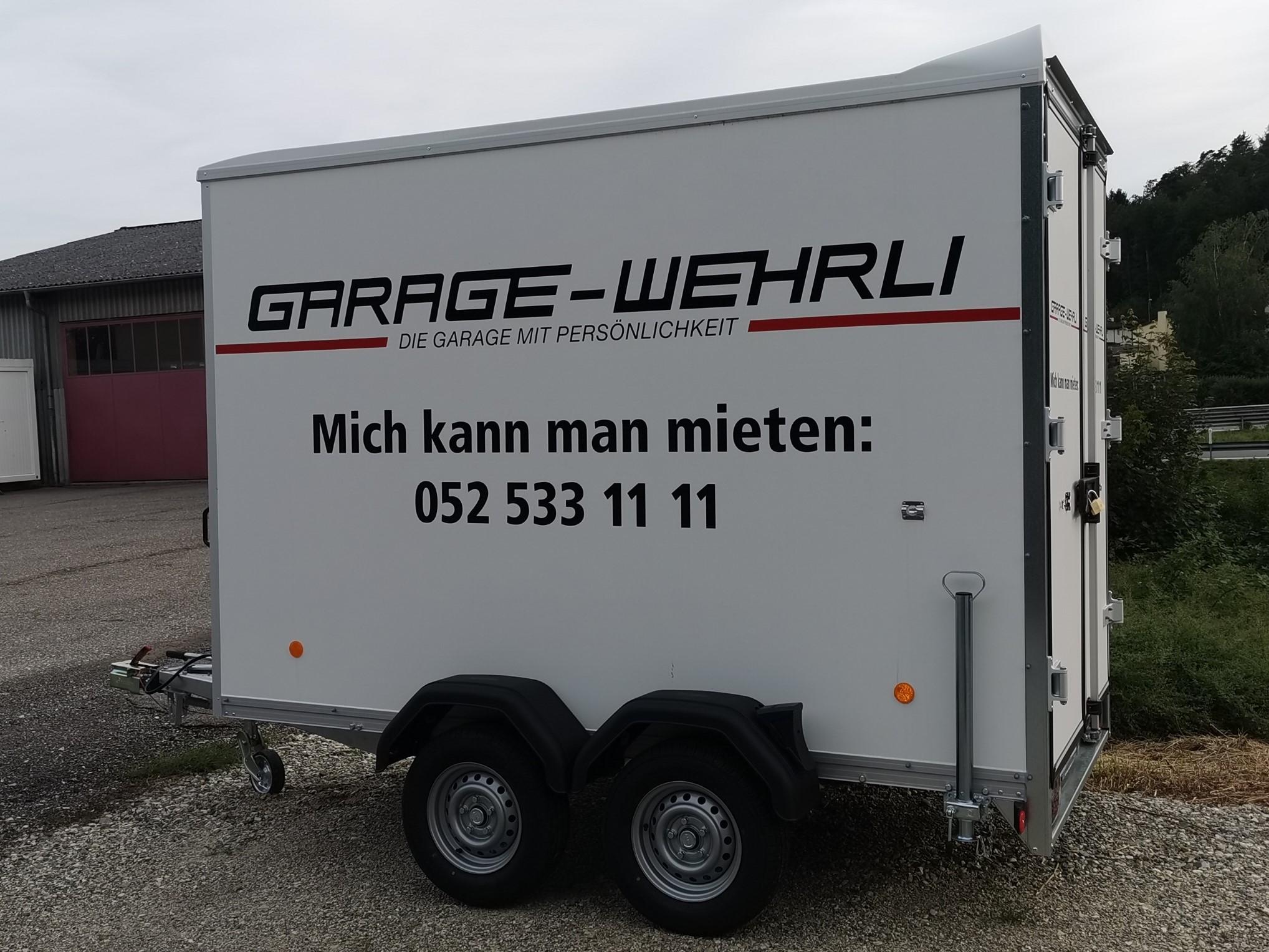 Anhänger mittel 2t   -  ideal für Umzüge und Transport von mittelgrossen bis grossen Gütern Gütern  -  Festaufbau  -  Leergewicht: ca. 600 kg, Zuladung: ca. 1400 kg  Fr. 65.- pro Tag
