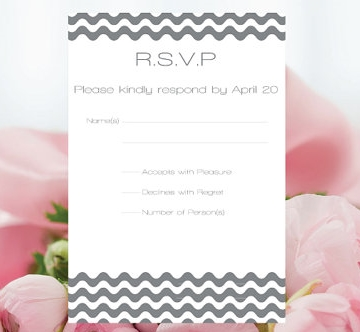 Check out Etsy for more affordable and unique RSVP response cards like the one in the photograph by GraphicArtDesign.