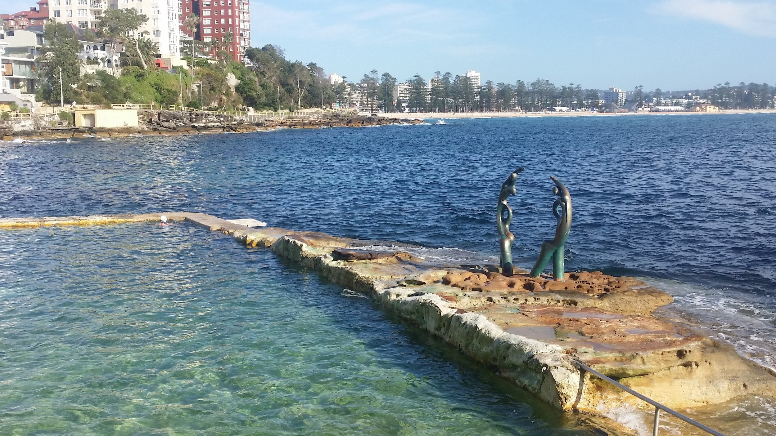 One of Sydney's many ocean pools en route to Shelly Beach.