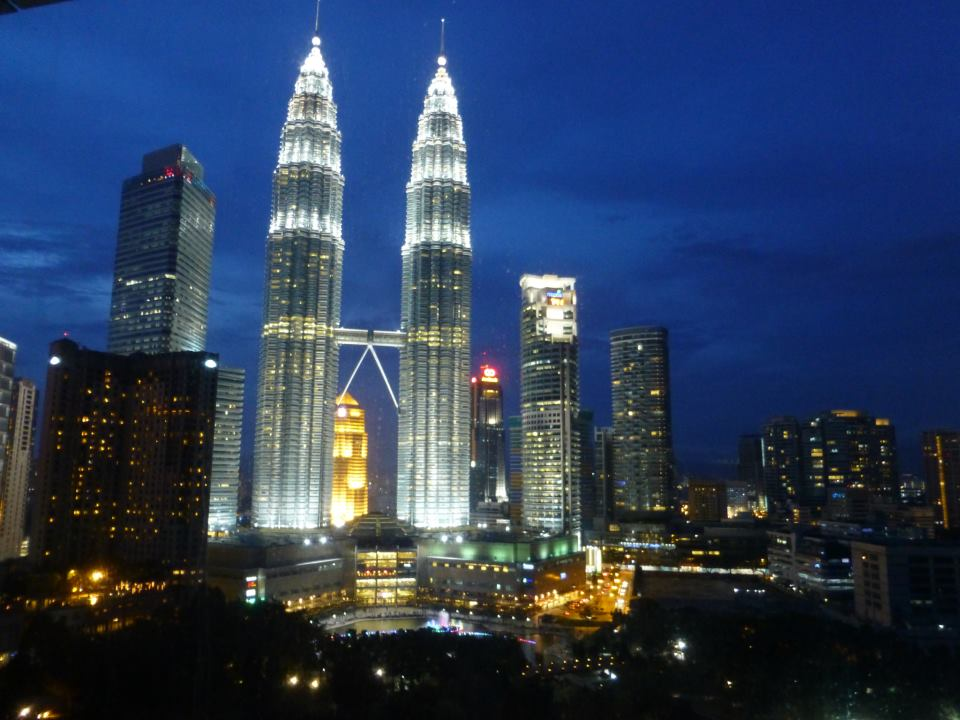 Coping with the view following a day at the dentist in Kuala Lumpur