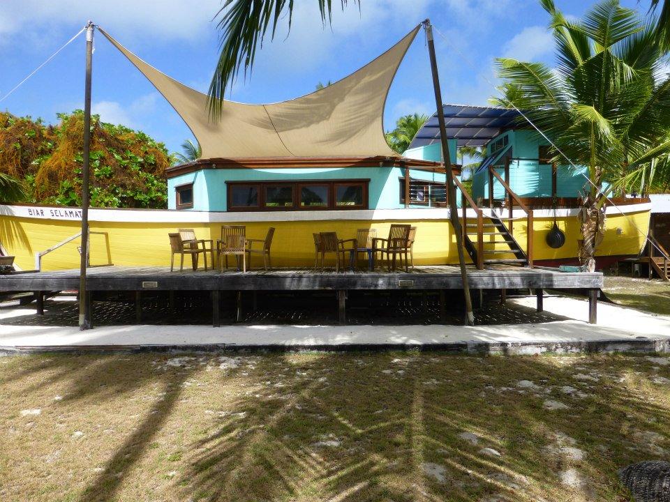 BIg Barge Art Centre Cocos Keeling Islands