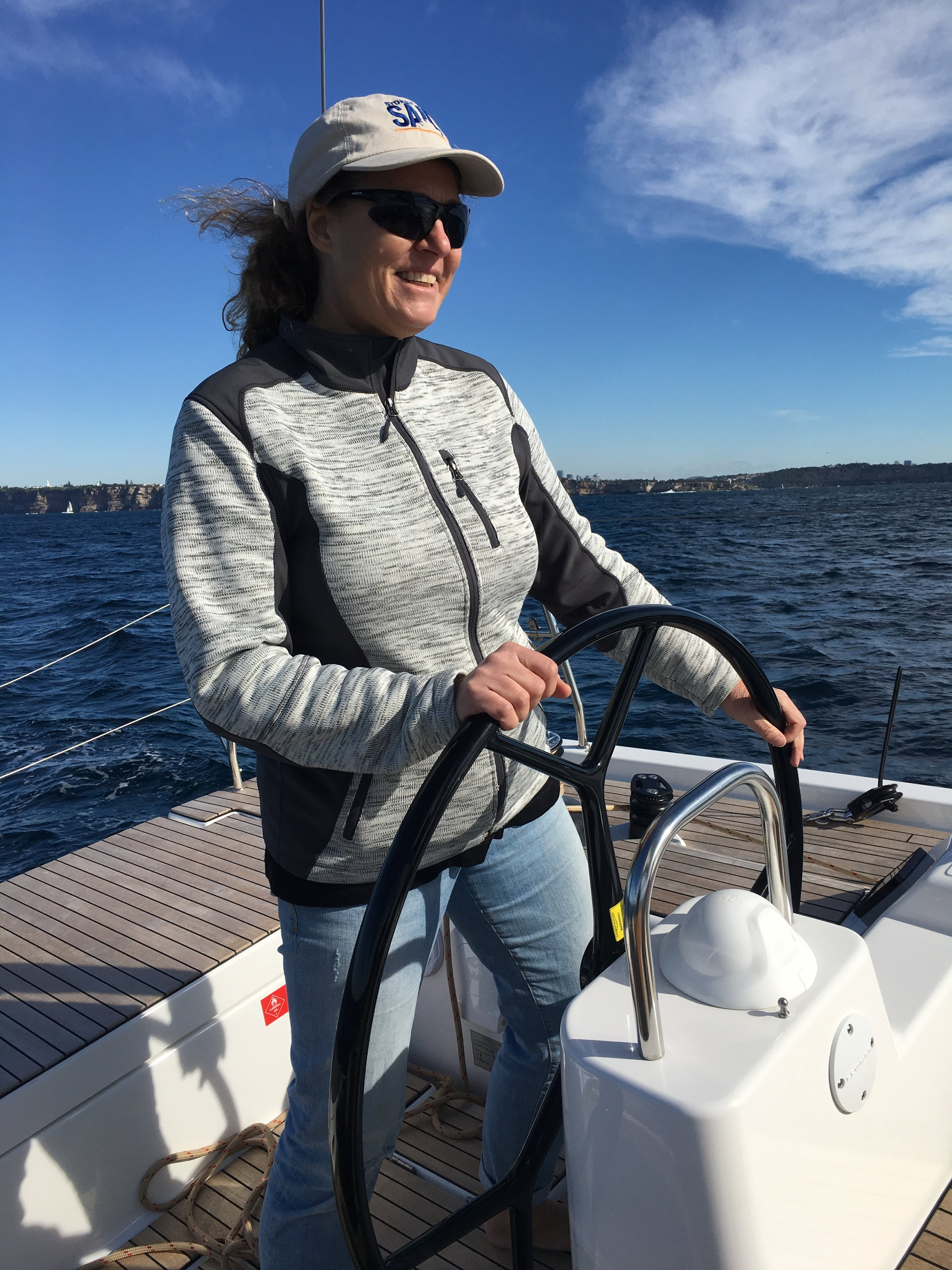 Enjoying the calm of Sydney Harbour