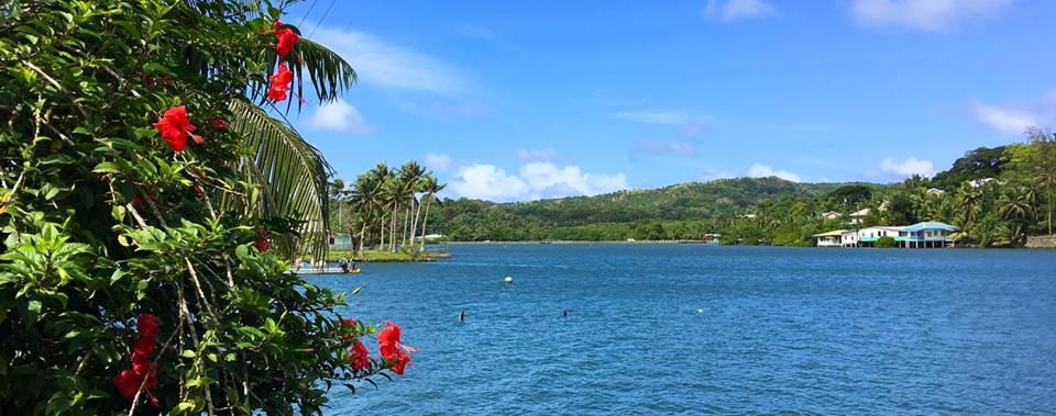 The pretty lagoon in Colonia - the capital of the state of Yap.