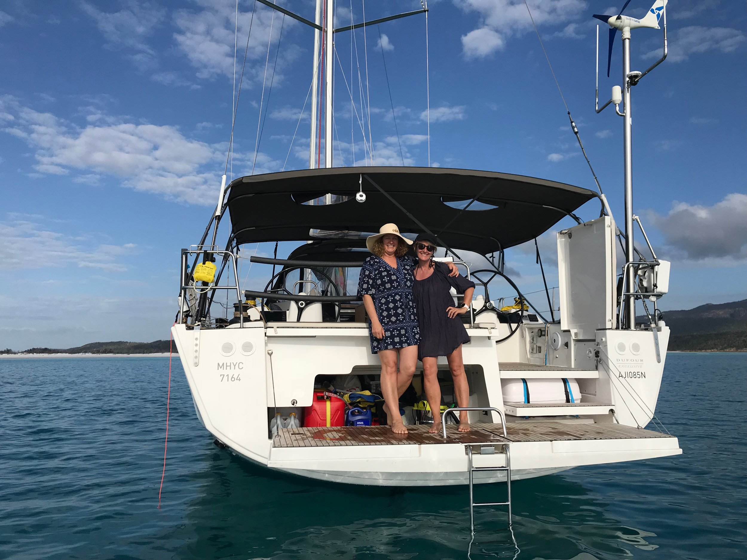 Nicky and I anchored up at Whitehaven