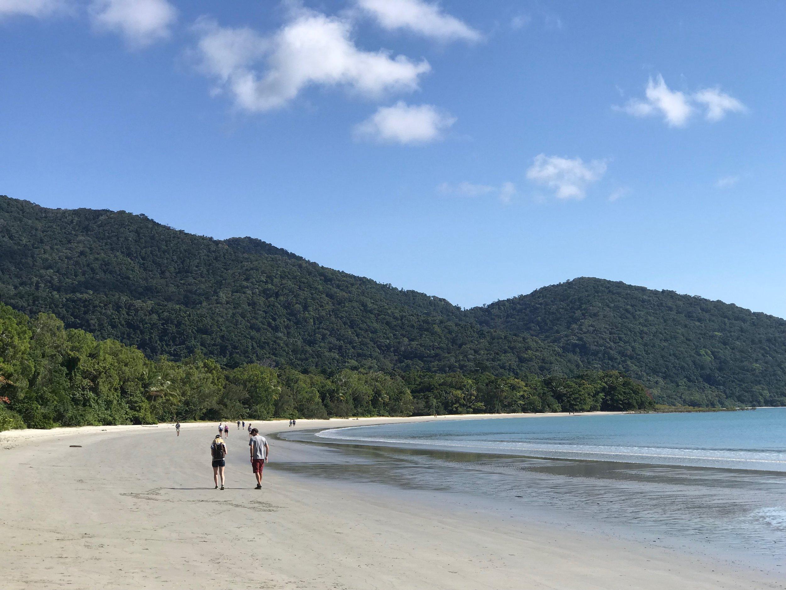Cape Trib beach - beautiful, but no swimming