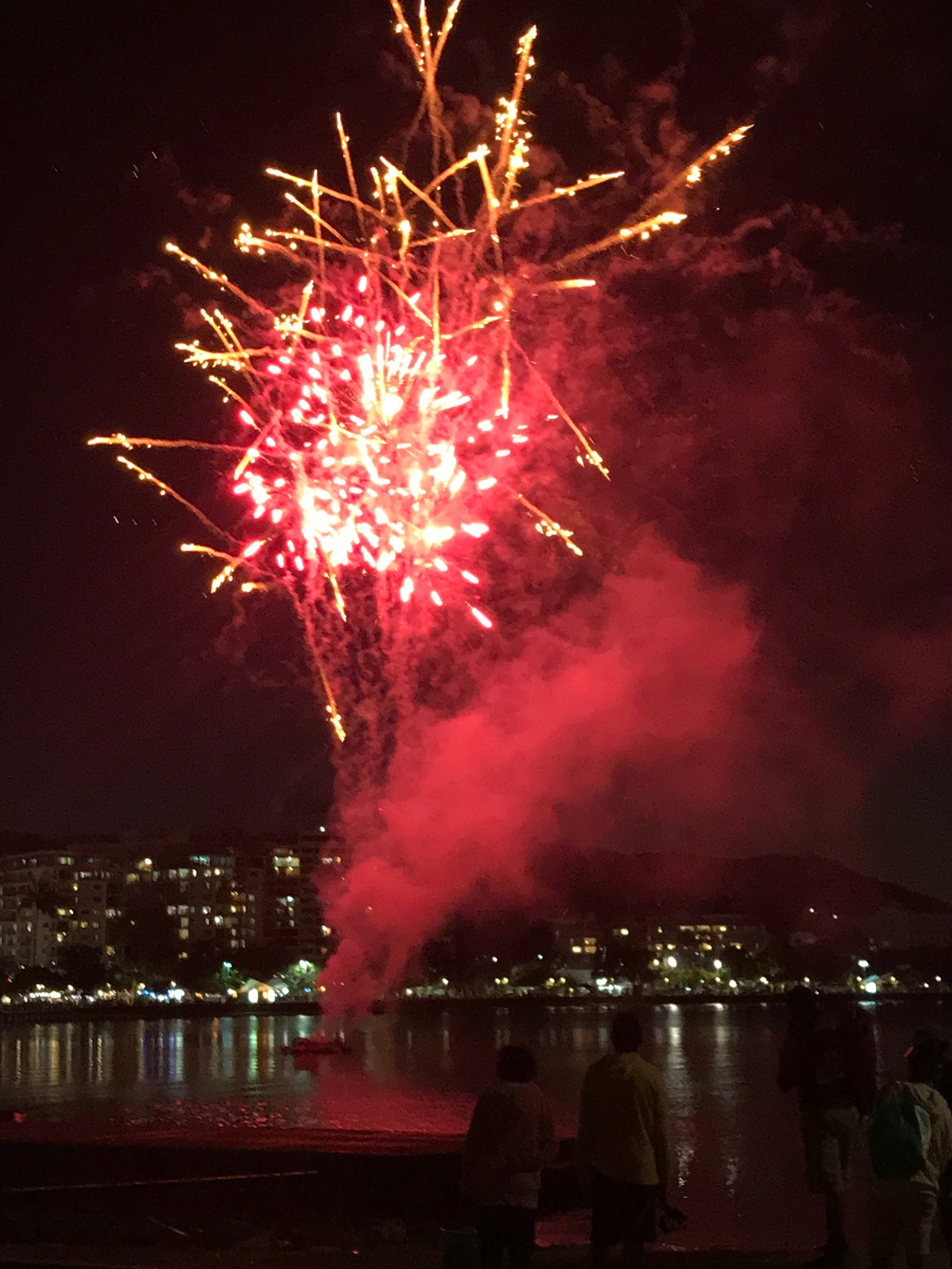 Fireworks in the harbour - a regular event.