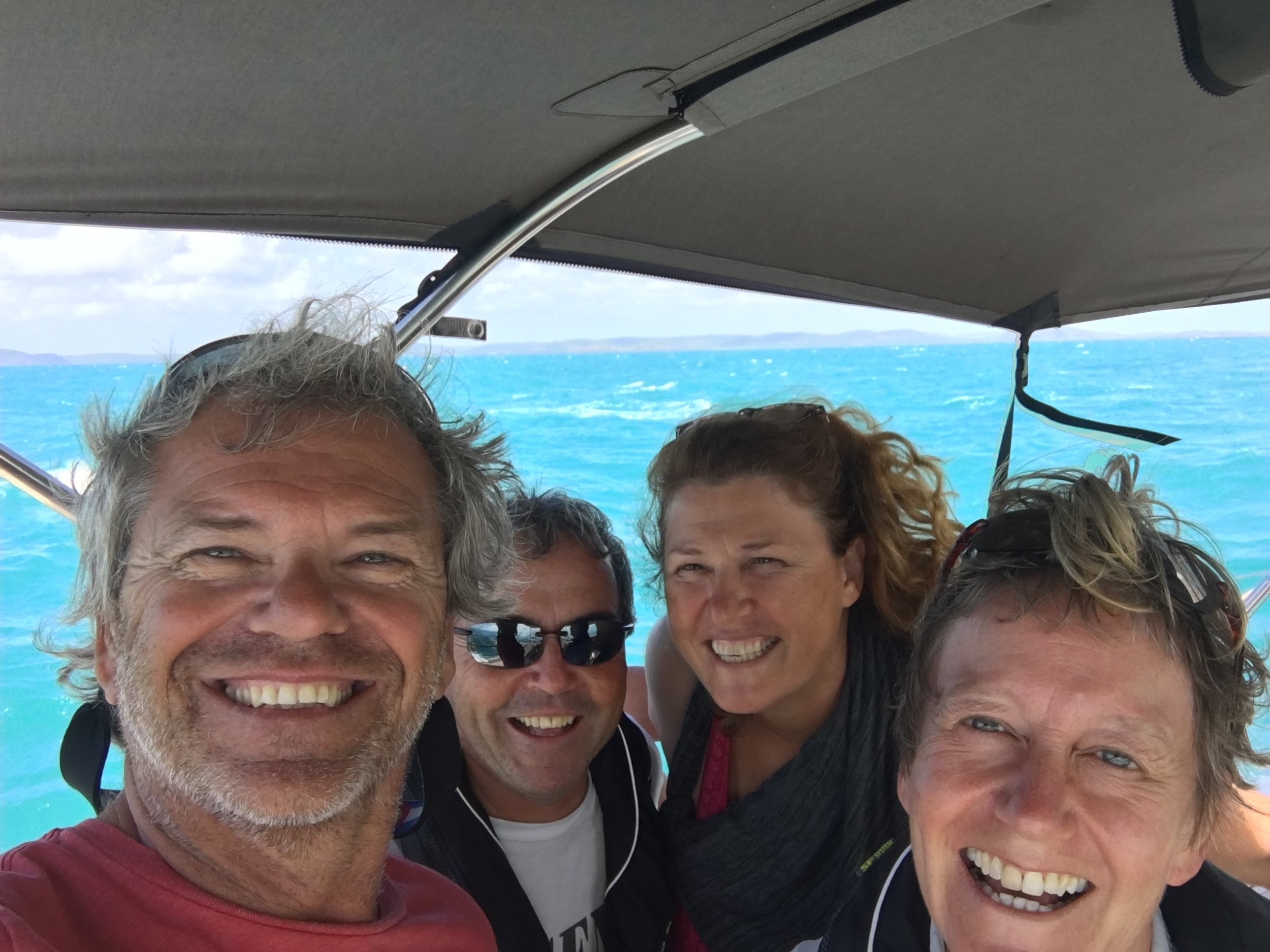Celebratory photo at the top of Australia!