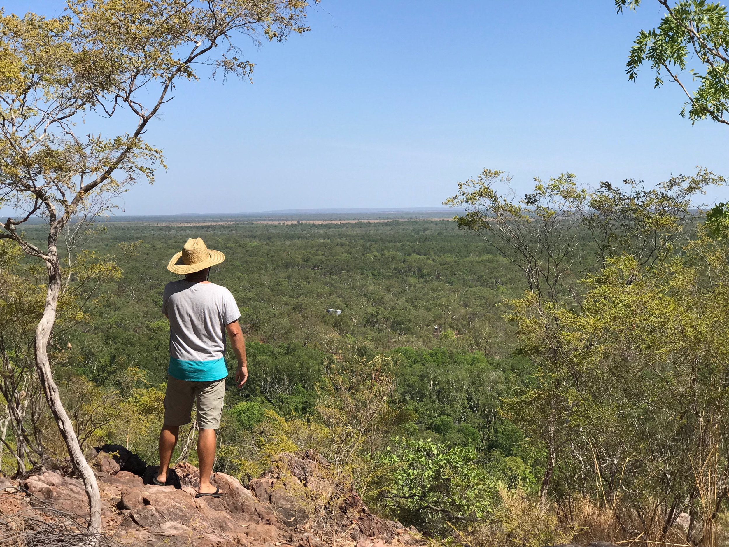 Spectacular view into the never never from the loop walk at Wangi Falls