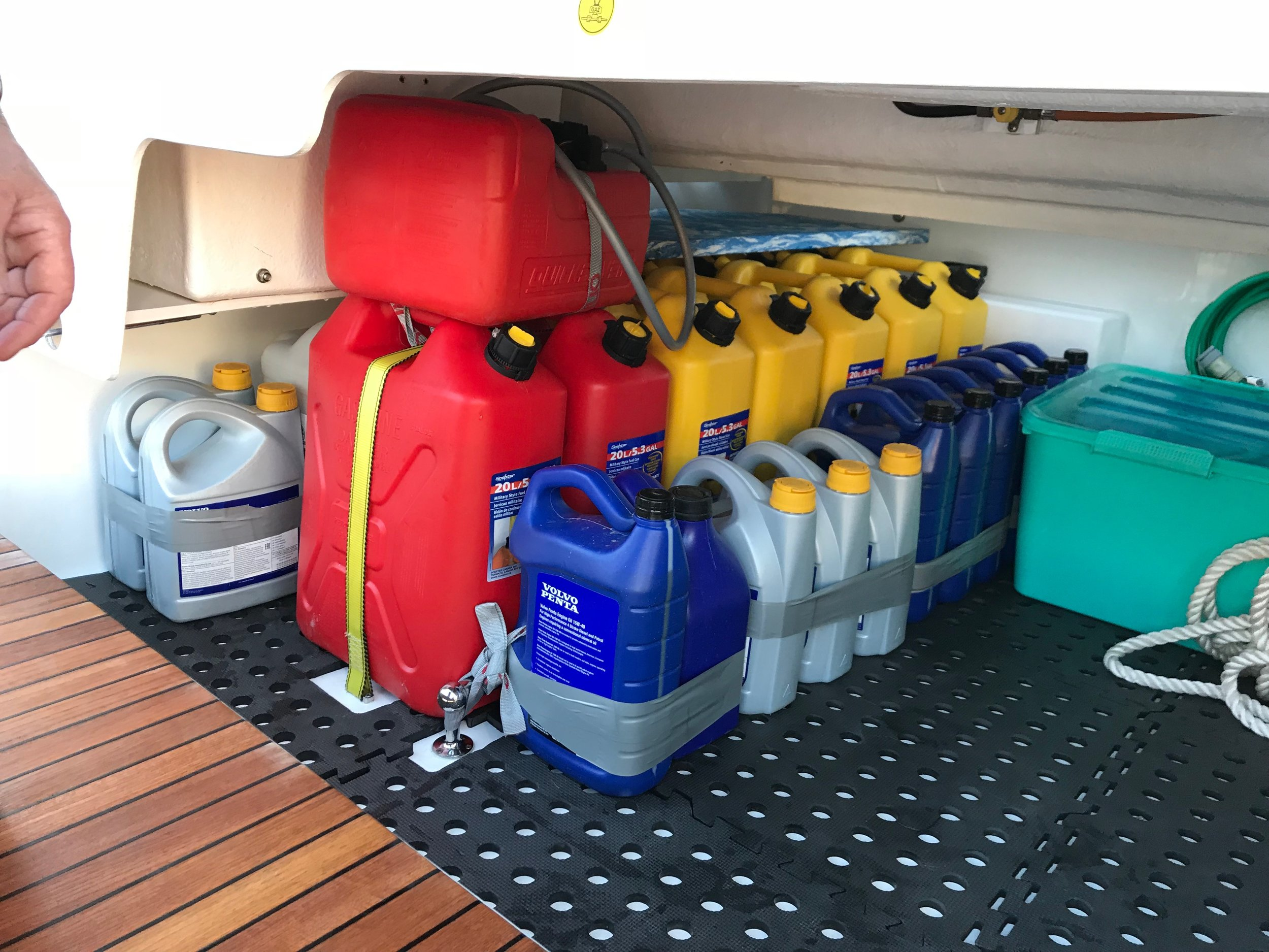 Sorting out the storing of emergency fuel