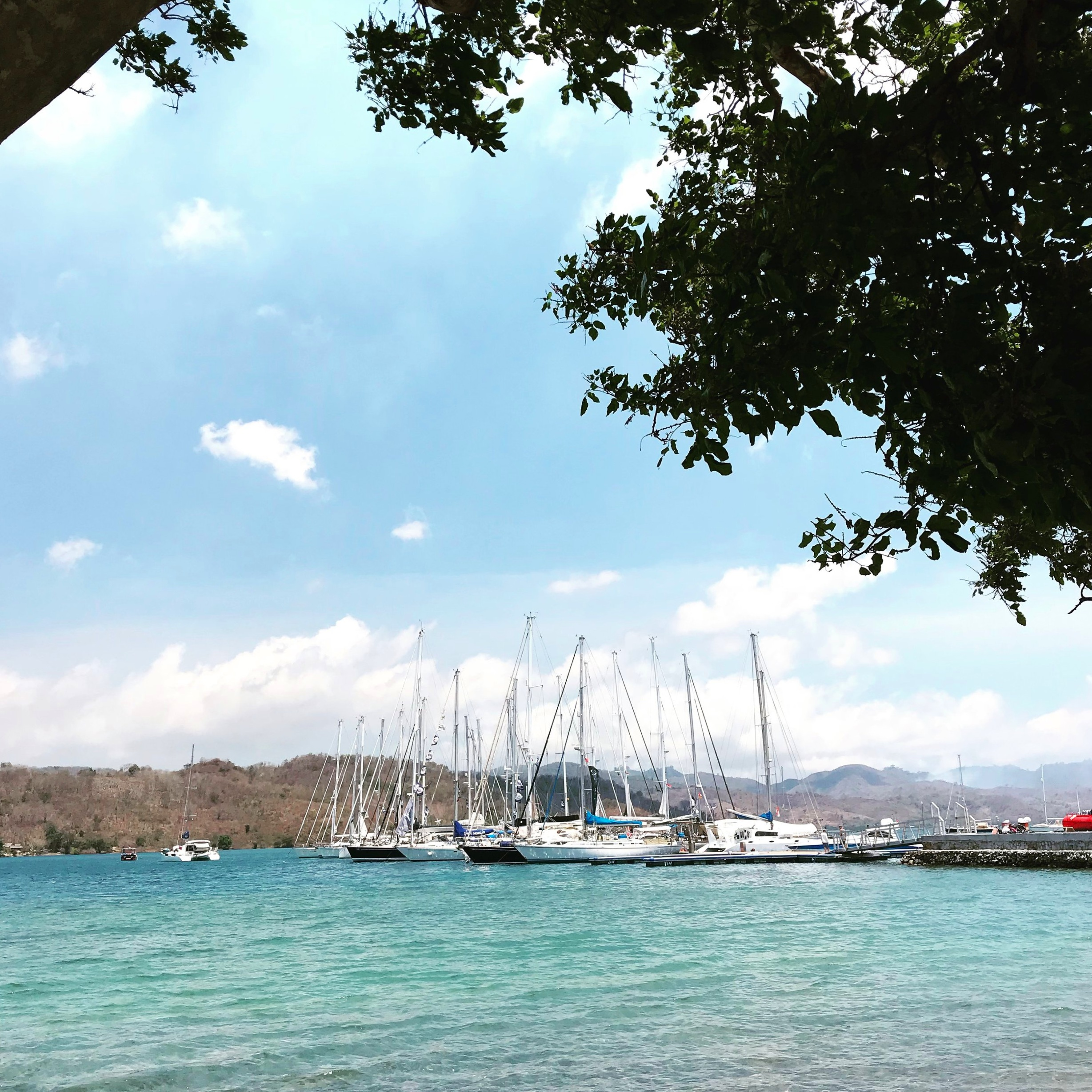 Yachts in the marina on Gili Gede