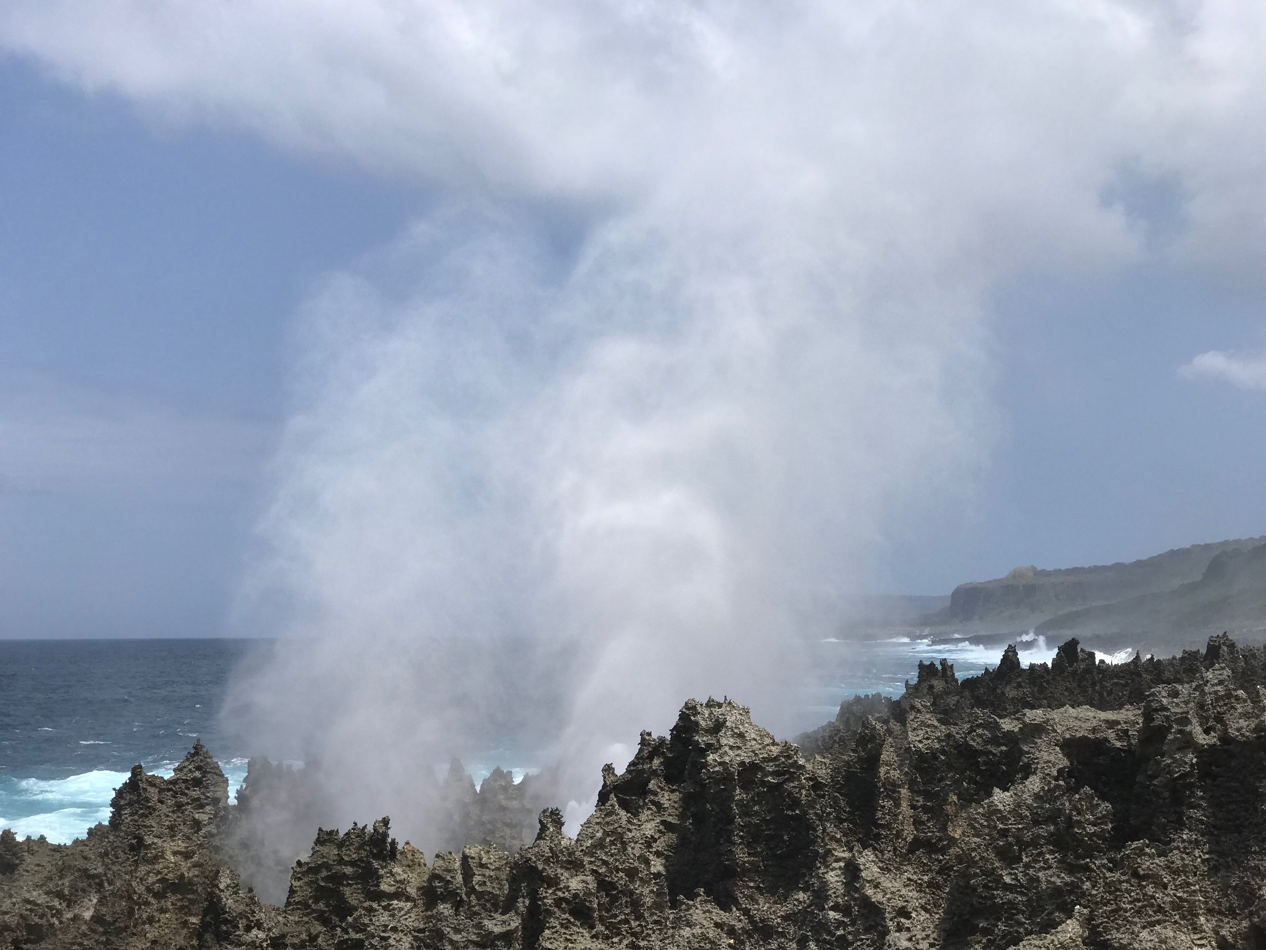 Magnificent wild and rugged coastline at The Blowholes!