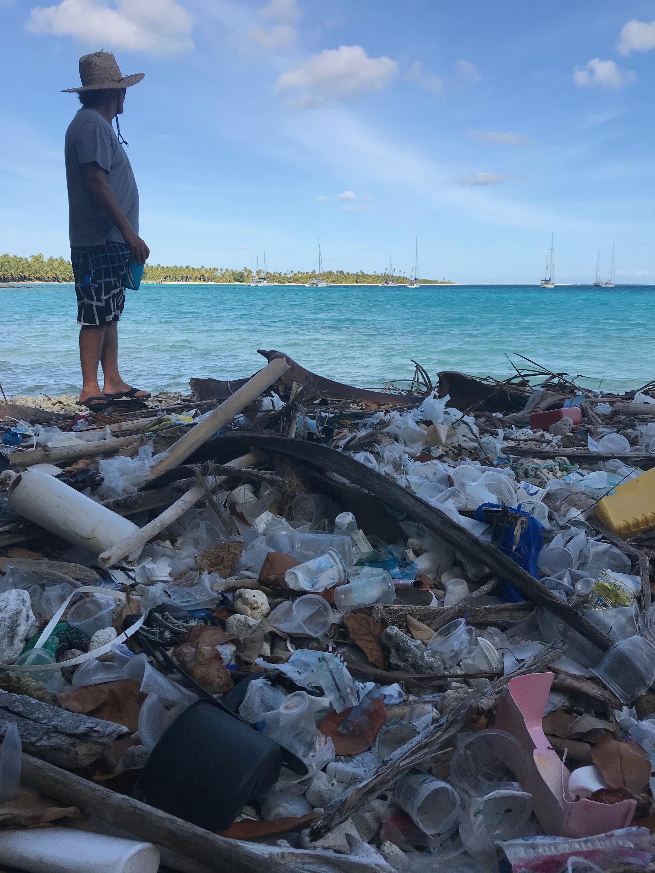 Rubbish on Direction Island