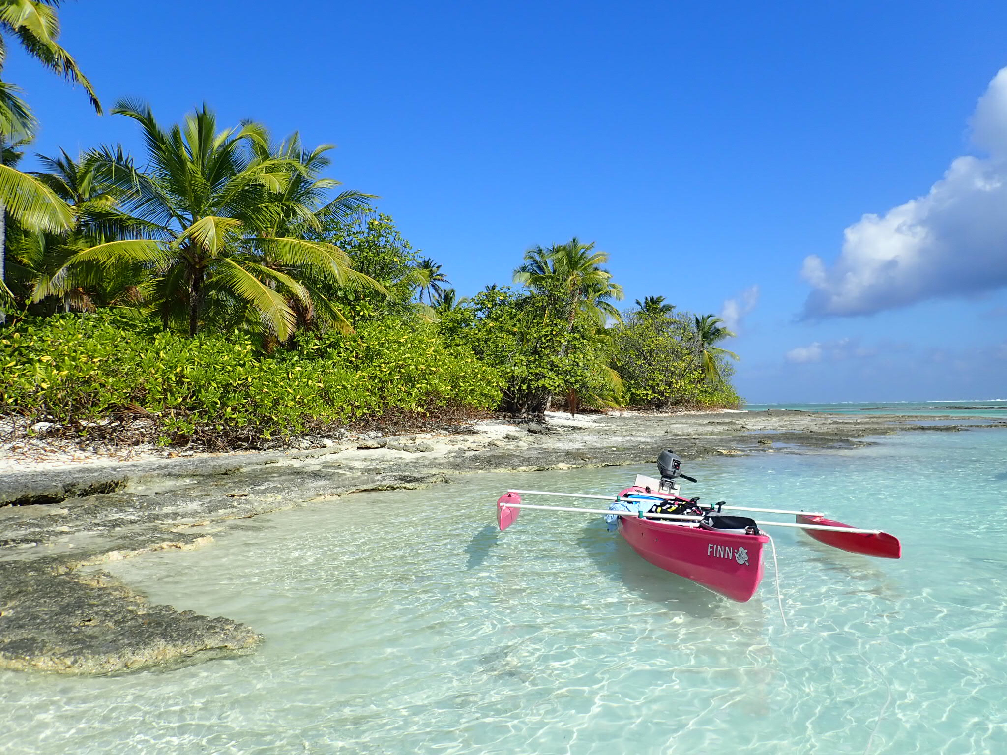 Motorised Kayaks - great for exploring the uninhabited islands