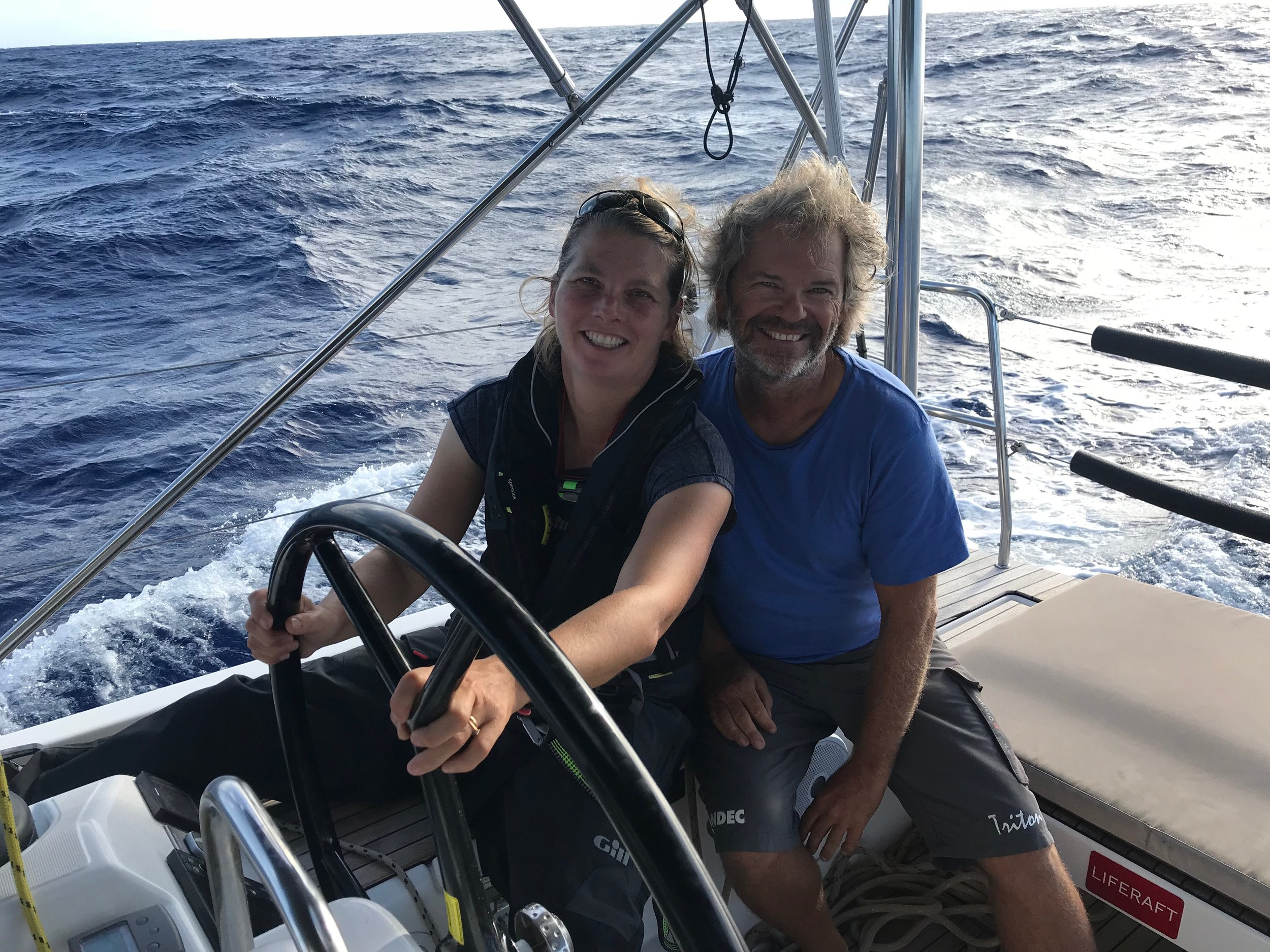 Matt and Jenny - long term sailing friends reunited